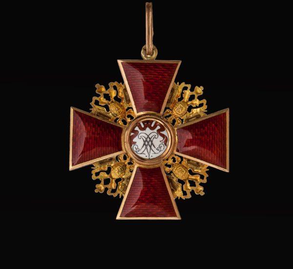 обратная сторона знака ордена Святого Александра Невского
