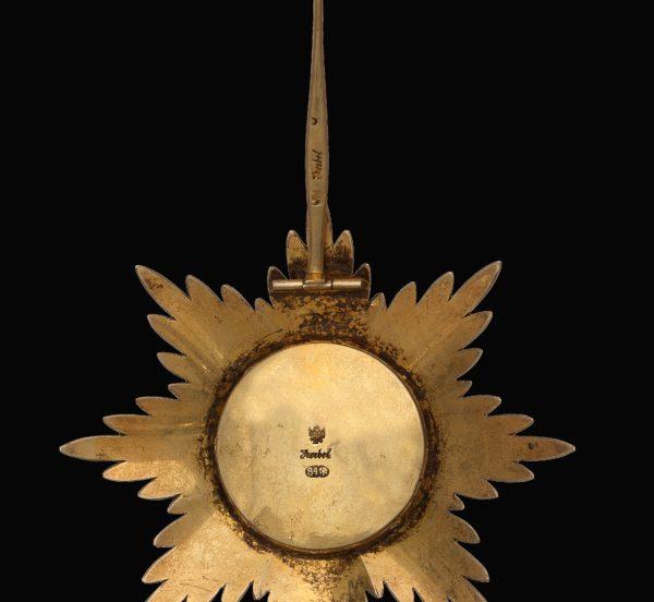 обратная сторона звезды ордена Белого Орла