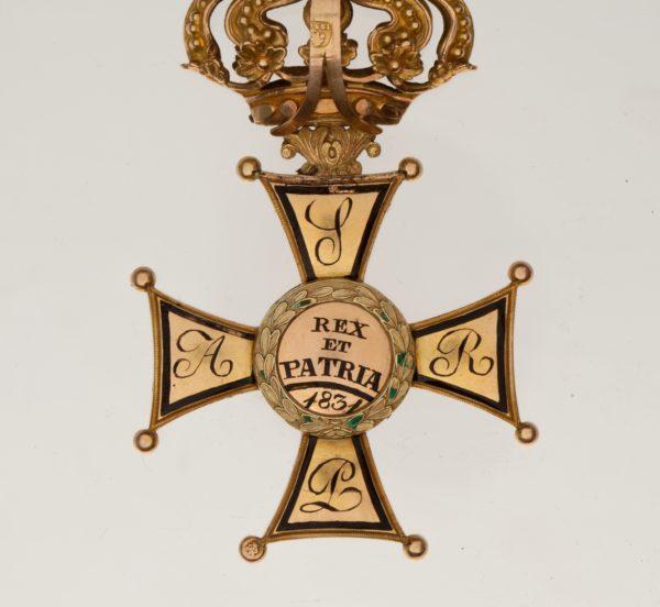 обратная сторона знака ордена Virtuti Militari 2-й степени