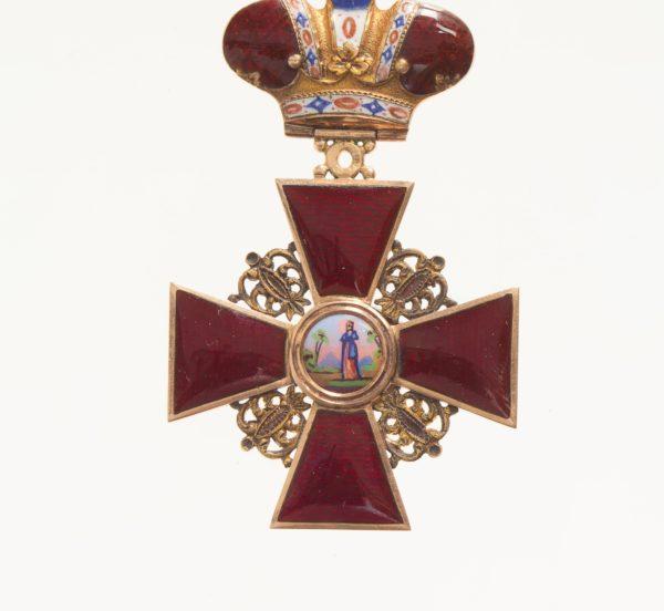 Знак ордена Святой Анны 2-й степени «с короной»