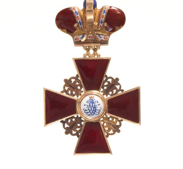 обратная сторона знака ордена Святой Анны 2-й степени «с короной»