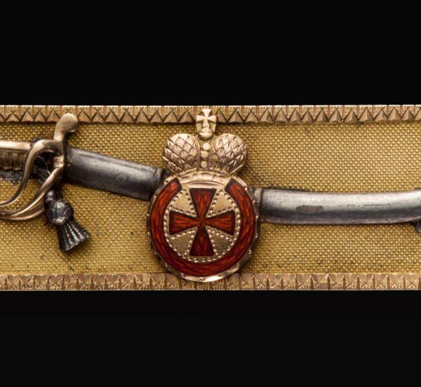 Наградная сабля с орденом Святой Анны 4-й степени. Фрачная копия